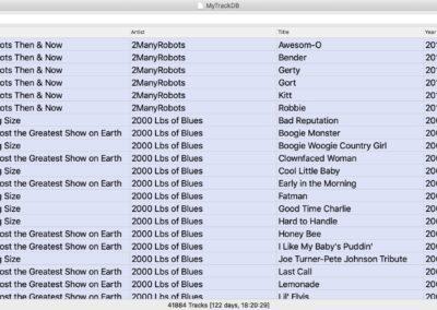 Track Database