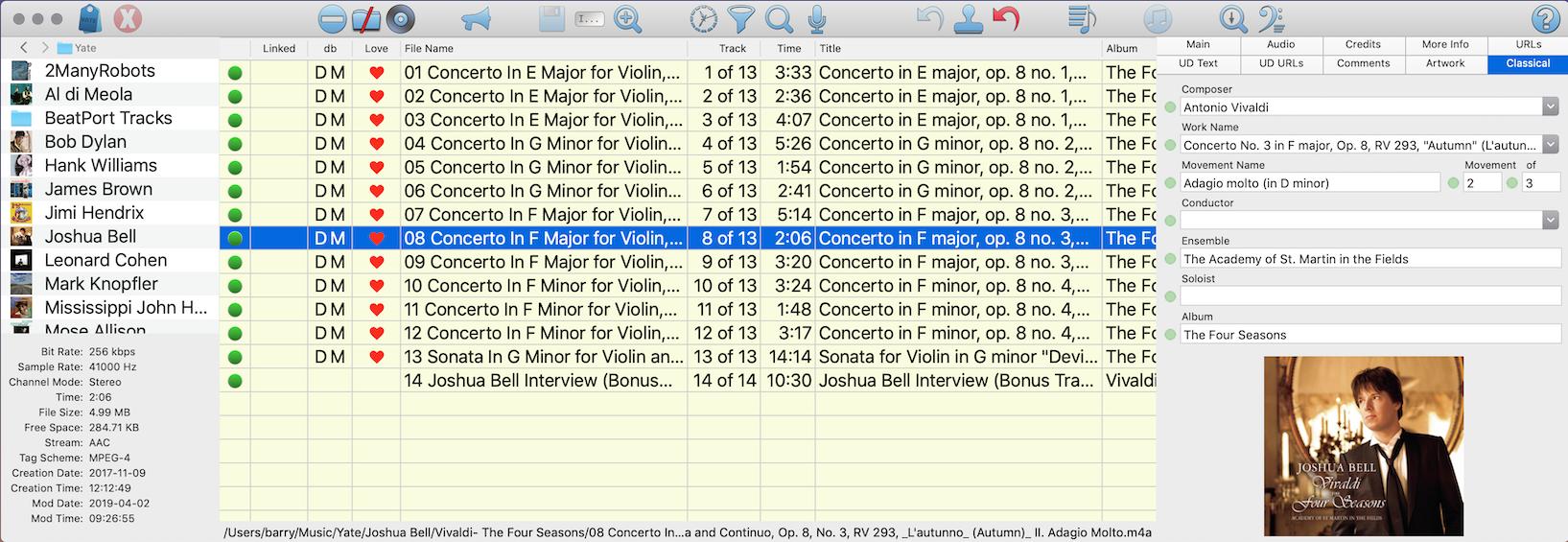 Yate 6.2.0.1 Mac 破解版 音乐标签及管理工具