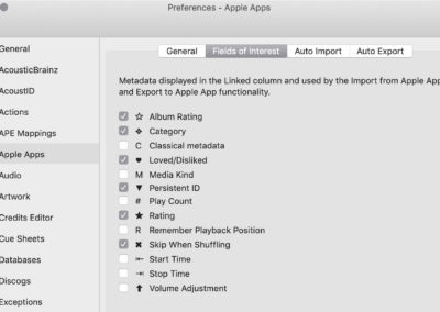 Preferences - Apple Apps Fields of Interest